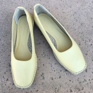 NWT Everlane Espadrille Leather Pale Yellow 7.5